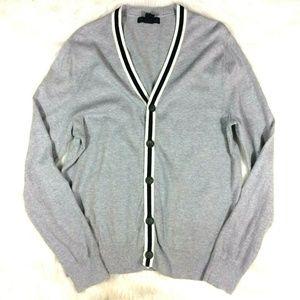 Banana Republic Gray Grandpa Cardigan Sweater